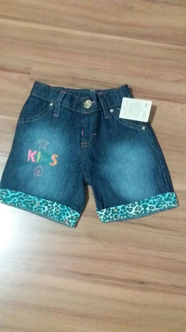 Bermuda Jeans Infantil Nova - Foto 3