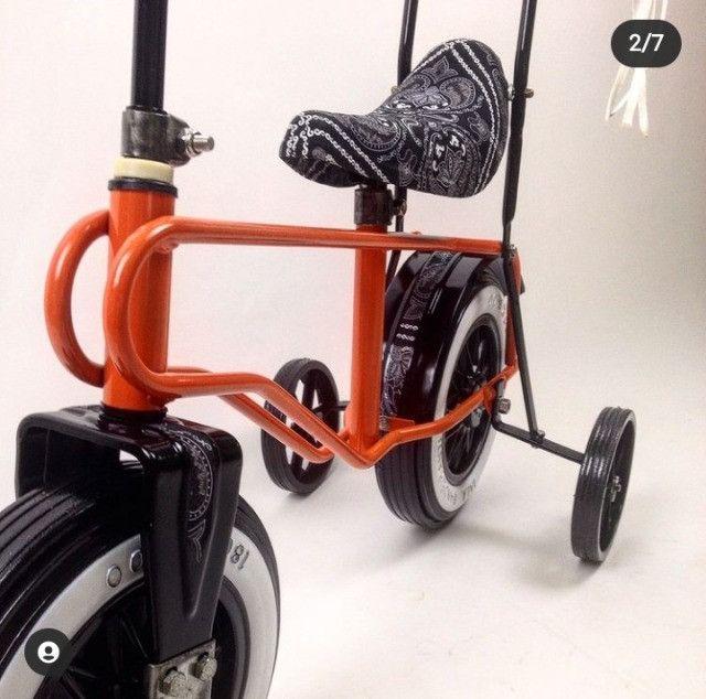 Rara bicicleta infantil Bandeirante roda plástica - Foto 6