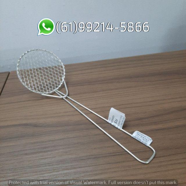 Peneira Escumadeira Plug N°10 P/ Frituras Aramfactor - Foto 2