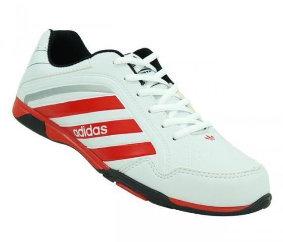 Tênis Masculino Adidas F900 Branco e Vermelho