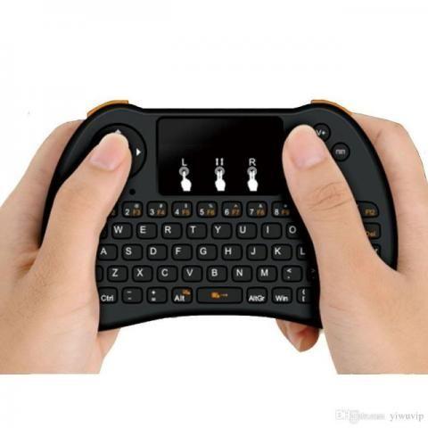 Mini Teclado Wireless Keyboard Com Mouse Para Smart Tv Playstation 3, 4 Celular Tablet Not