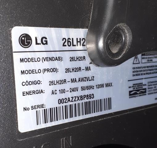 Vendo TV LG 26 polegadas novinha barbada - Foto 5
