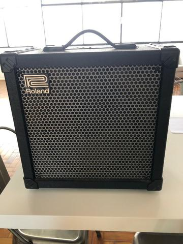 Cubo Amplificador Profissional Roland Para Baixo Cube-80X