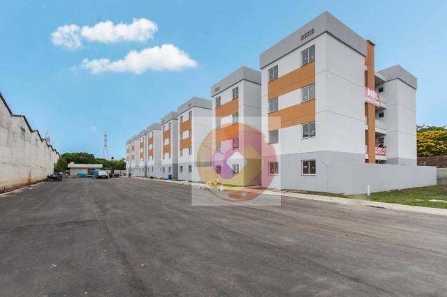 Apartamento com 2 dormitórios à venda, 52 m² por R$ 173.500 - Cidade Industrial - Curitiba - Foto 2