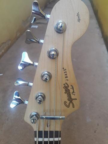 Bass squaier fender topissimo otima tocabilidade - Foto 3