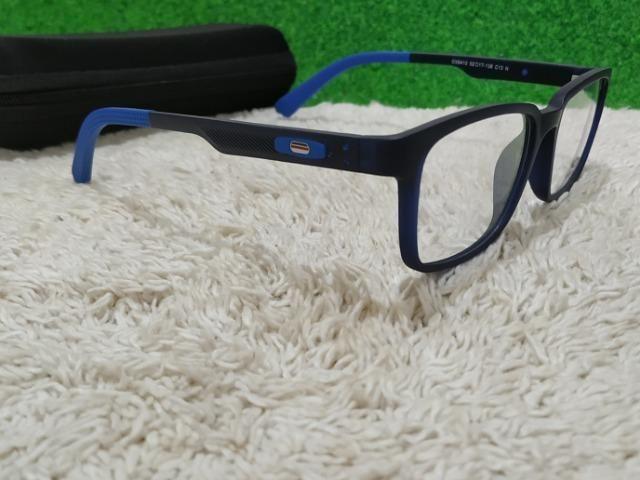 Armação Oakley Preta c  Azul) - Bijouterias, relógios e acessórios ... f5e3475a05