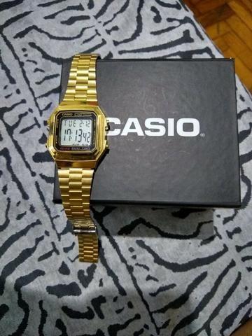 4c96304c078 Relogio casio dourado original e pulseira