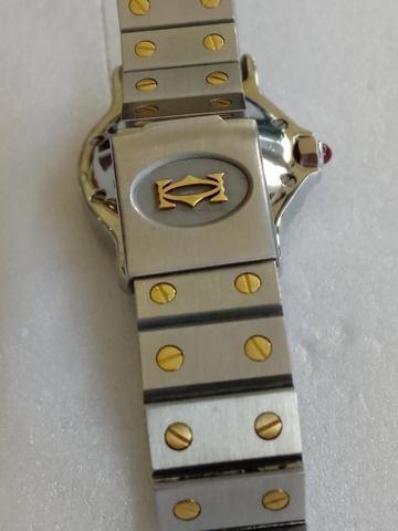 94293631cda Relógio marca Cartier modelo santos automático aço ouro ...