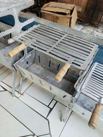 Churrasqueias media de aluminio