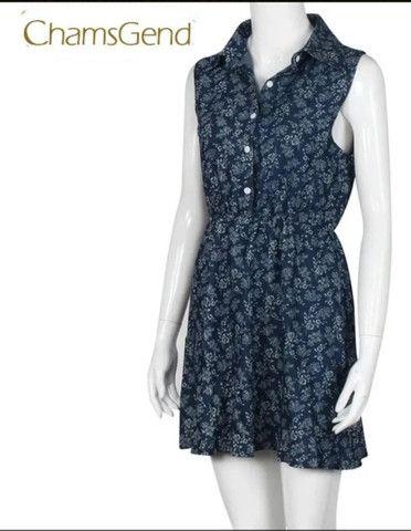 Vestido de algodão ñ amarrota - Foto 3