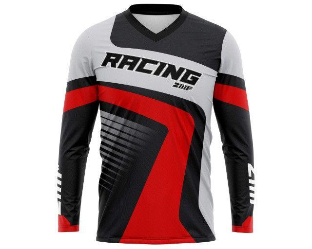 Camisa de motocross trilha personalizada - Foto 2