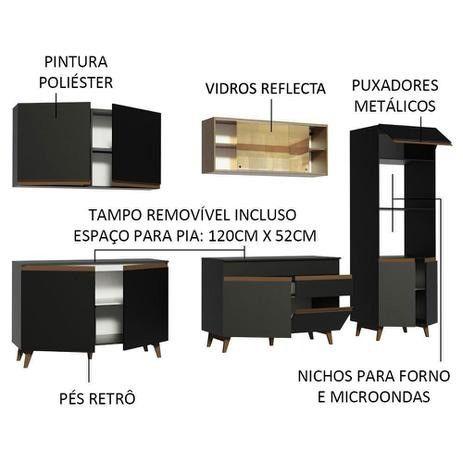 Realize seu sonho!! Cozinha Completa Madesa Reims 310001 com Armário e Balcão - Foto 3