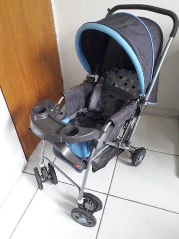 Carrinho com bebê conforto menino - Foto 2