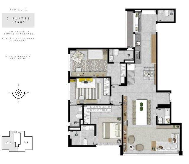 Apartamento à venda com 3 dormitórios em Águas claras (norte), Brasília cod:BR3AP12653 - Foto 8