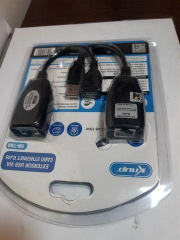 Adaptador extensor USB via cabo de rede RJ45 - Foto 2