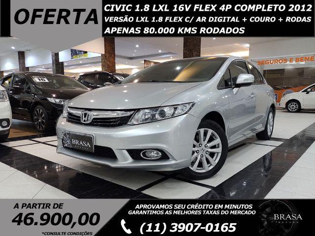 Honda Civic 1.8 LXL 16v Flex 4p Completo C/ Ar Digital