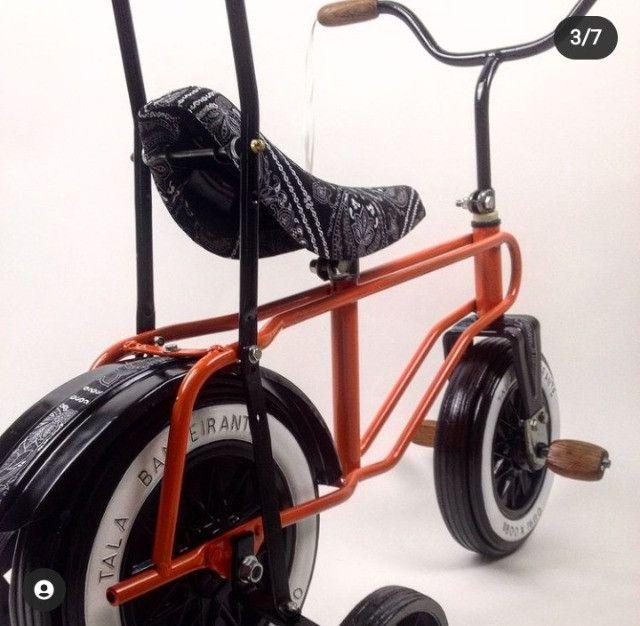 Rara bicicleta infantil Bandeirante roda plástica - Foto 4