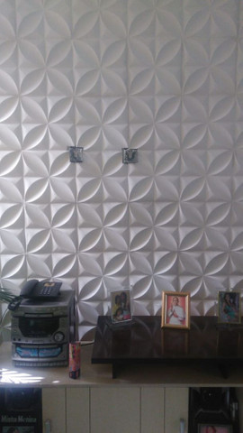 Placas de gesso 3D modelo floral - Foto 2