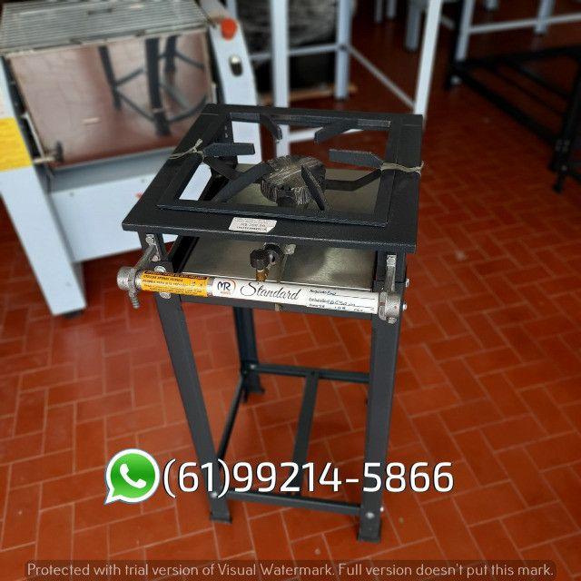 Fogão 1 Boca AP Standard Alta Pressão 30x30 Perfil 5 Industrial MR Fogões