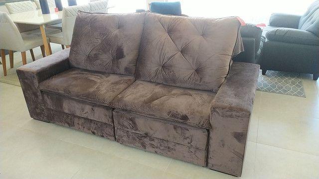 Sofá retrátil é reclinável só 1999,99 12x166,66 - Foto 5
