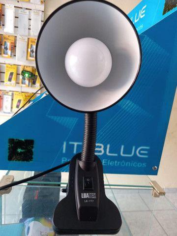 Luminária para mesa ajustável LUATEK cor PRETA  (House eletronics)