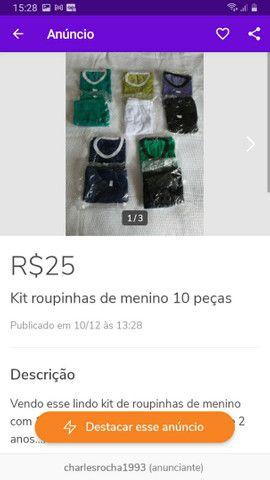 Diversos kits de roupinhas escolha o seu - Foto 2