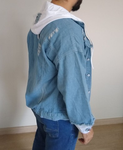 Jaqueta Jeans Destroyed - Foto 3