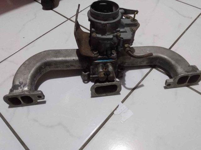Carburador DFV 446 gasolina com coletor, filtro e cabo de acelerado - Foto 3