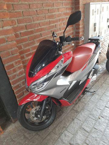 Honda pcx 150 sport vermelho e prata 4milkm