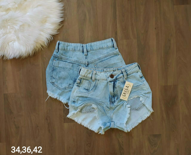 Shorts jeans e saias jeans - Foto 6