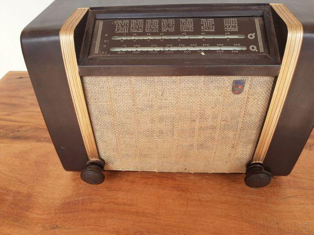 Rádio Philips antigo valvulado - Foto 5