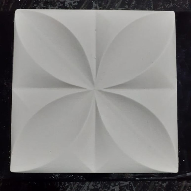 Placas de gesso 3D modelo floral - Foto 3