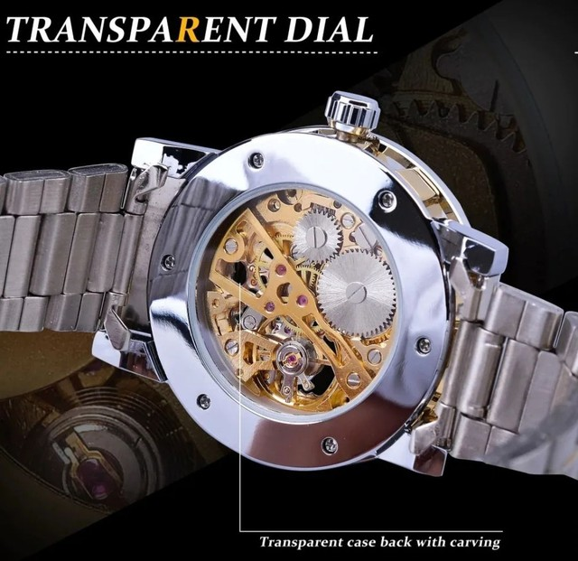Relógio Winner Automático Engrenagem Luxo - Foto 2