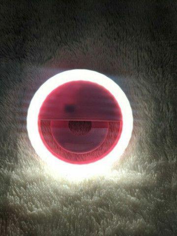 Refletor Iluminador Luz Selfie Foto Blogueira Gravação Vídeo - Foto 3