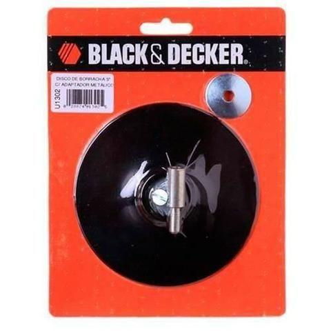 Disco de borracha 5 Pol** adaptador Metálico - Black+Decker-U1302