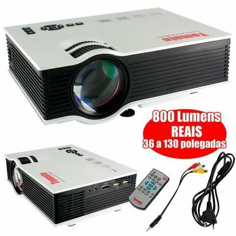 Mini Projetor Led 800 Lumens 1080p HDMI - Foto 2
