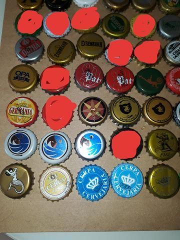 Lote tampinhas cervejas diversas para colecionador - Foto 3