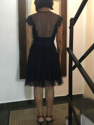 Vestido Azul Marinho ( Túli com renda ) - Foto 3