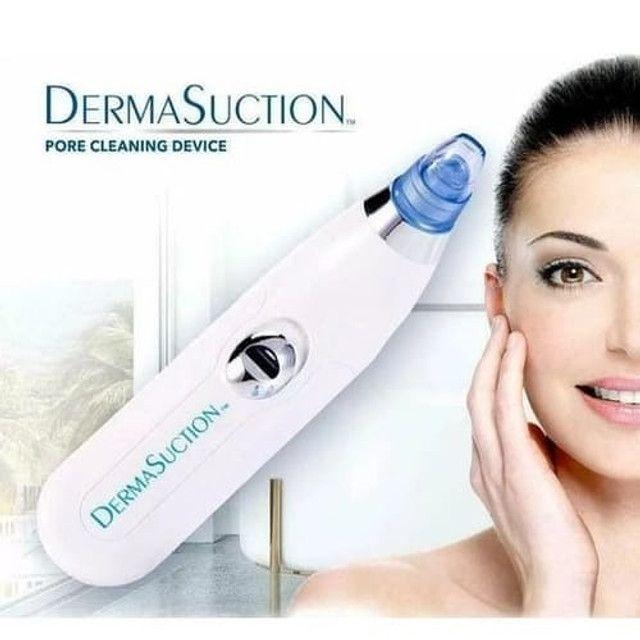 Dermasuction remove cravos e espinhas à vácuo rápido e fácil com 3 modos - Foto 4