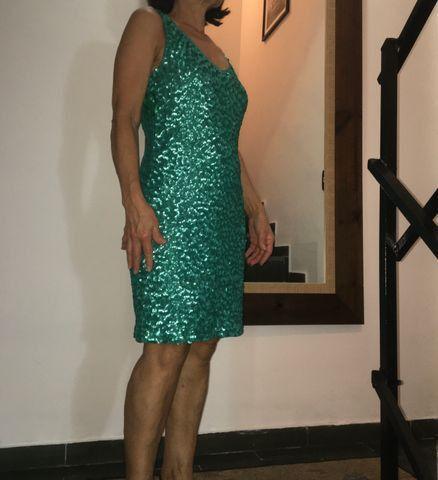 Vestido tubinho PAETÊ( Verde Esmeralda ) - Foto 3