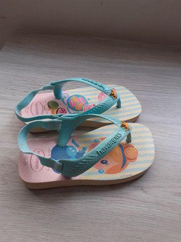 Mini sandália havaianas cinderela - Foto 2