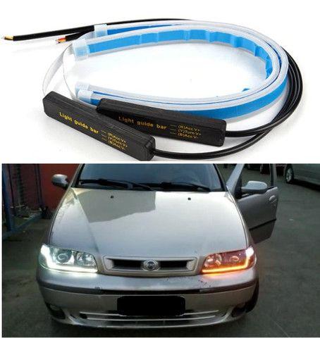 Kit LED Drl Lanterna e Seta Sequencial - Entrego em Estações