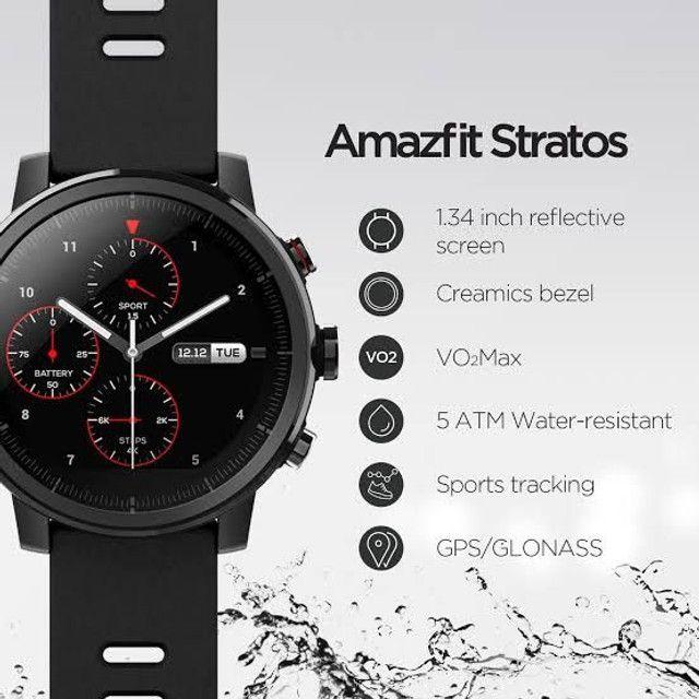 Promoção!!! Amazfit STRATOS 2 - versão global - (novo lacrado) Relógio Smartwatch - Foto 3