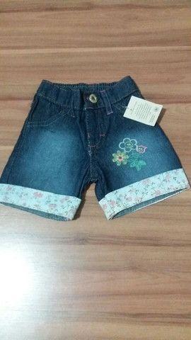 Bermuda Jeans Infantil Nova