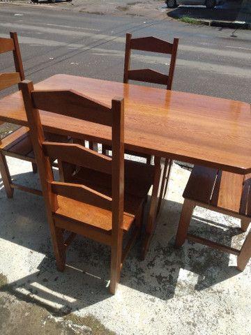 Mesa com 4 cadeiras Nova. Leia o anúncio ok. - Foto 2