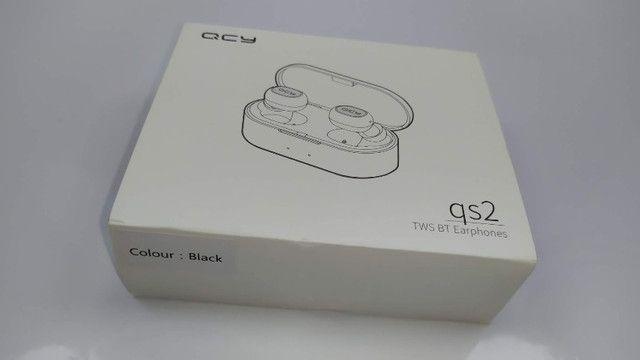Fone De Ouvido Sem Fio QCY Qs2 Preto Bluetooth 5.0 - Foto 6
