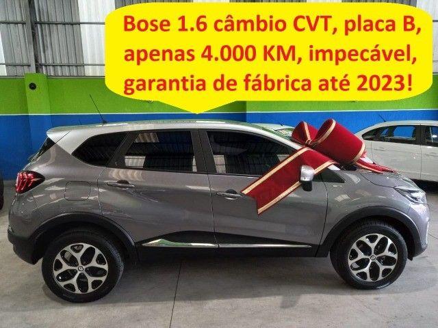 Renault Captur Bose 1.6 câmbio CVT,4.000km,placa B,garantia de fábrica até 2023,impecável!