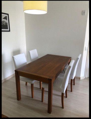 Mesa Madeira com 4 cadeiras TOK STOK