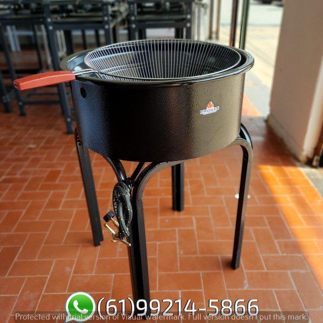Fritadeira 14 Litros Esmaltada Pasteleiro a gás Progás - Foto 3