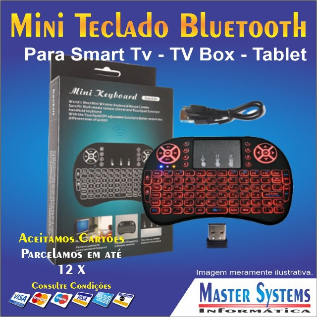 Mini Teclado Keyboard Sem Fio Wireless